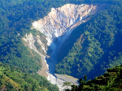 Landslide at Manekhola